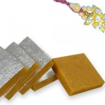 Diamond Flower Rakhi and Kesar Katari